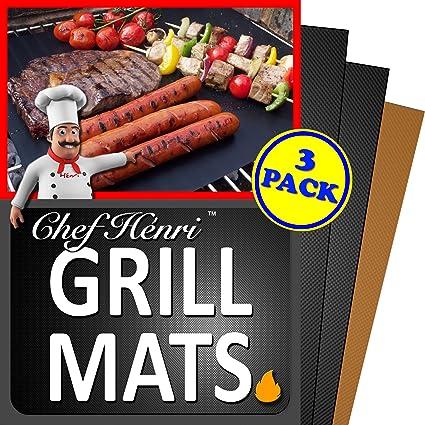 Amazon.com: Chef Henri Grill Mat garantía de por vida ...