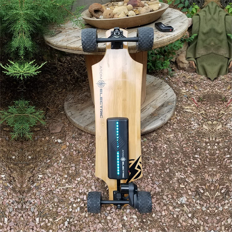 90Wh Lithium Battery /& 1000W Motor Wood Atom Longboards Electric B10X All Terrain Longboard Skateboard