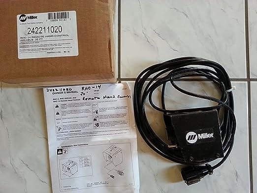 Miller 242211020 RHC 14 mano mando a distancia para Sti 203 Stick/Scratch Start TIG soldador: Amazon.es: Industria, empresas y ciencia