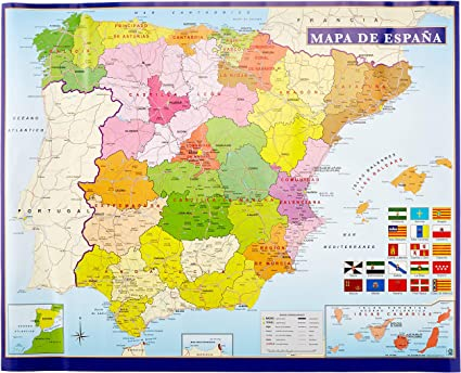 Cartina Della Spagna Geografica.Spagna Cartina Citta