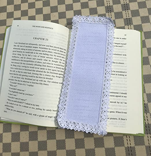10 piezas de marcadores de libros de punto de cruz. Algodón ...