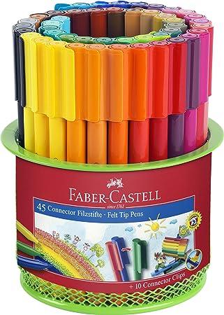 im K/öcher 45-teilig Faber-Castell 155545 Filzstift CONNECTOR