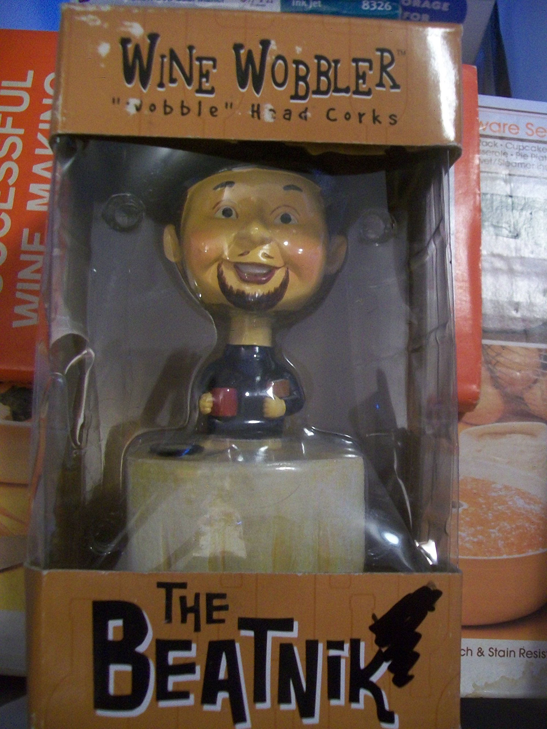 Wine Wobbler ''The Beatnik'' Wobble Head Corks