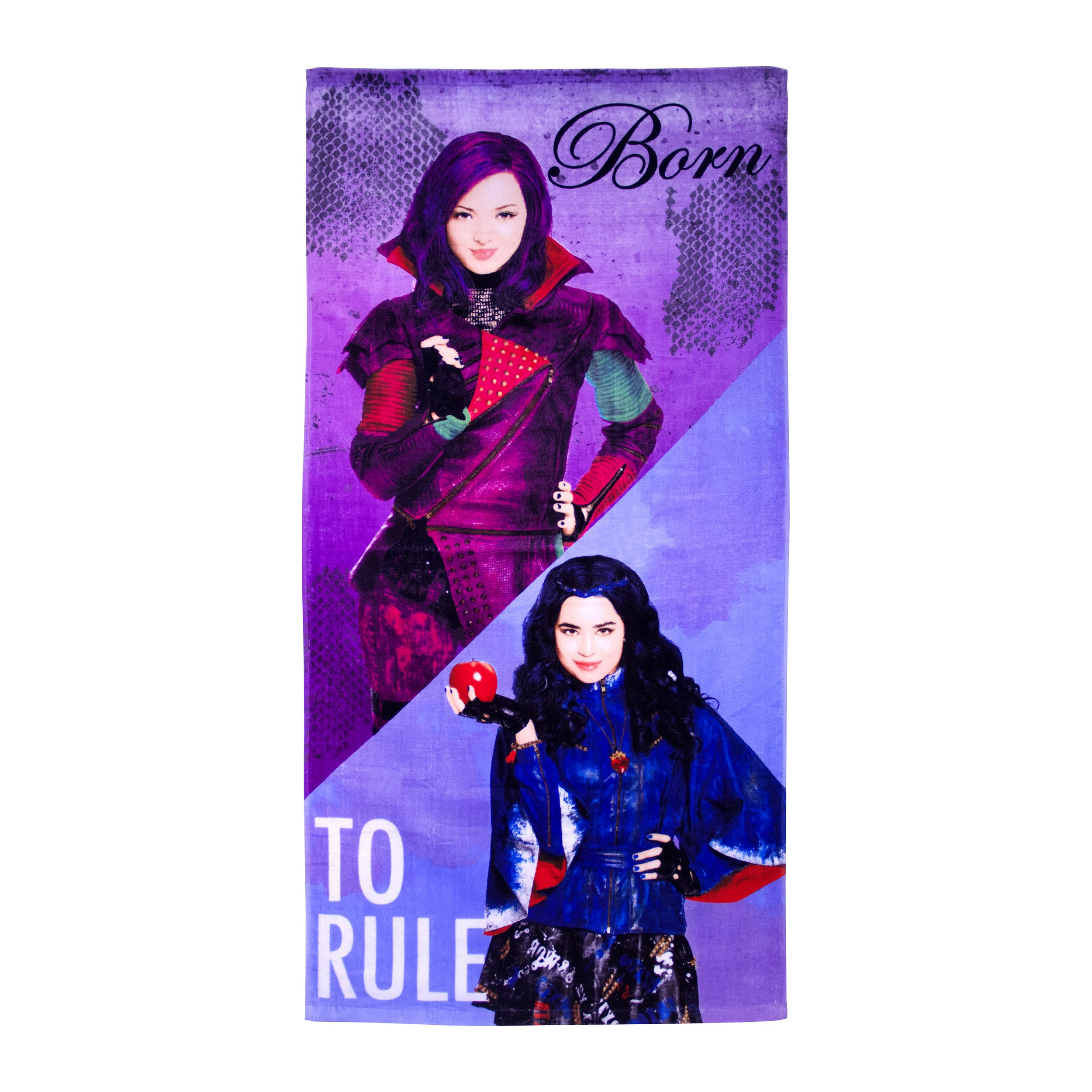 Disney Descendants Split/Rule 100% Cotton 28'' X 58'' Plush Beach/Bath Towel