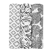 aden + anais Silky Soft Swaddle Baby Blanket, 3-Pack, in in Motion