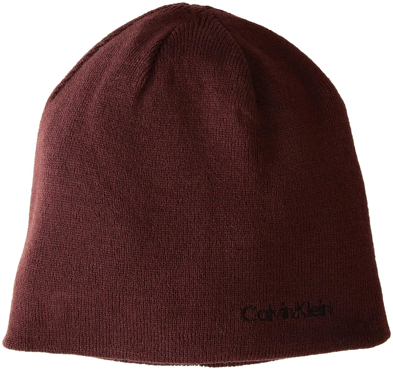 d415d89f1 Calvin Klein Mens Knit Beanie Beanie Hat