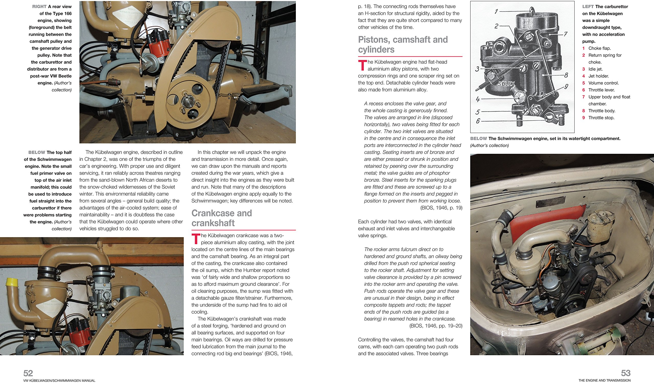 1940-45 1941-44 VW Kubelwagen//Schwimmwagen construction and operation of Germanys classic Second World War military utility vehicles : Insights into the design VW Type 82 Kubelwagen // VW Type 128//166 Schwimmwagen