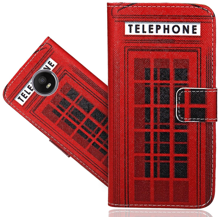 Motorola Moto E4 Handy Tasche, FoneExpert® Wallet Case Flip Cover Hüllen Etui Hülle Ledertasche Lederhülle Schutzhülle Für Motorola Moto E4 FoneExpert®