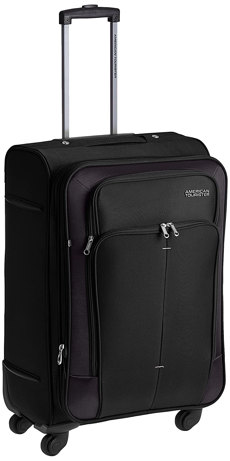 American Tourister Crete Polyester 67 cms Black Softsided Suitcase (49W (0) 09 002)