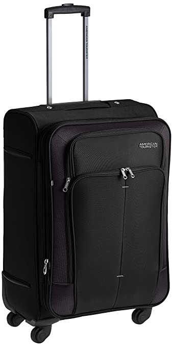 8669dfafedd6 American Tourister Crete Polyester 67 cms Black Softsided Suitcase (49W (0)  09 002)