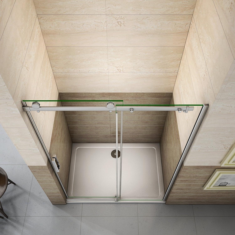 150x90x195cm Mamparas de ducha cabina de ducha 8mm vidrio templado ...