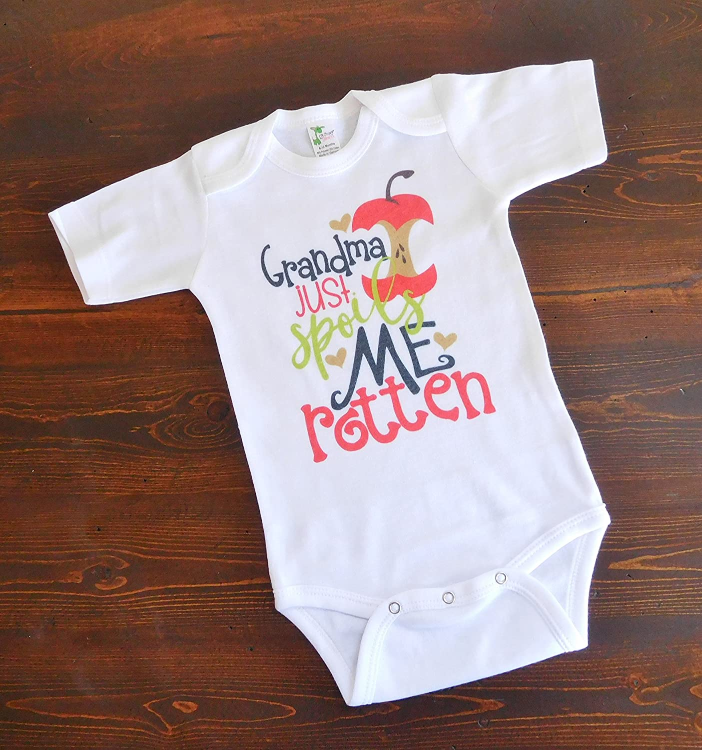 Baby Bodysuit - Grandma Just Spoils Me Rotten - Baby Shower Present