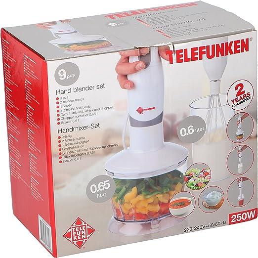 Telefunken 93604 de licuadora de mano Set, 0,65 L, 250 W: Amazon ...