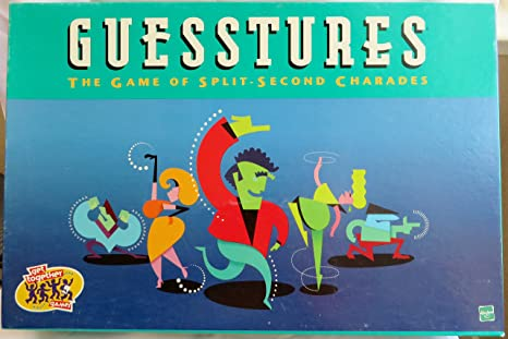 Guesstures the Game of Split-Second Charades First Edition Spiele