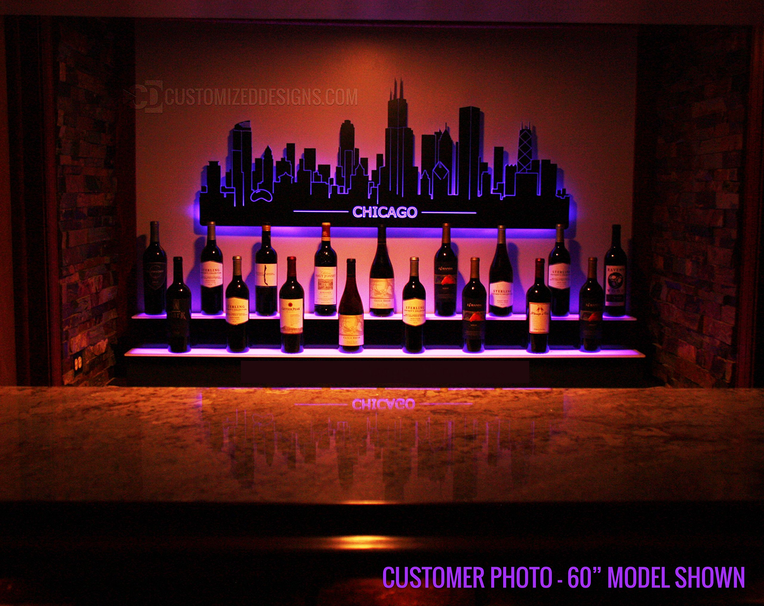 84'' 2 Step Commercial Grade LED Lighted Bottle Display - Remote Control LED Lighting by Customized Designs (Image #8)