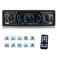 Autoradio, YOSASO Radio de Voiture Stéréo MP3 Lecteur Audio LCD Ecran Soutient USB/SD/AUX/Bluetooth/FM 87,5-108 MHz avec Télécommande