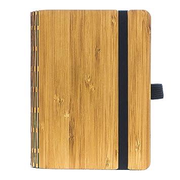 Jungholz Woodbook Carnet A6 En Bois Bambou Padouk Noyer