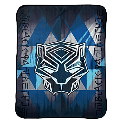 Jay Franco Kids Character Throw Blanket Avengers - Black Panther Blue: Home & Kitchen