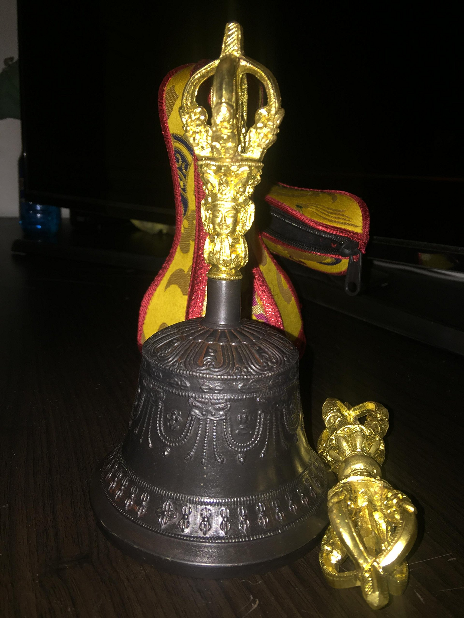 BUDDHIST SACRED SPIRITUAL TIBETAN BELL AND DORJE by TM THAMELMART FOR BEAUTIFUL MINDS