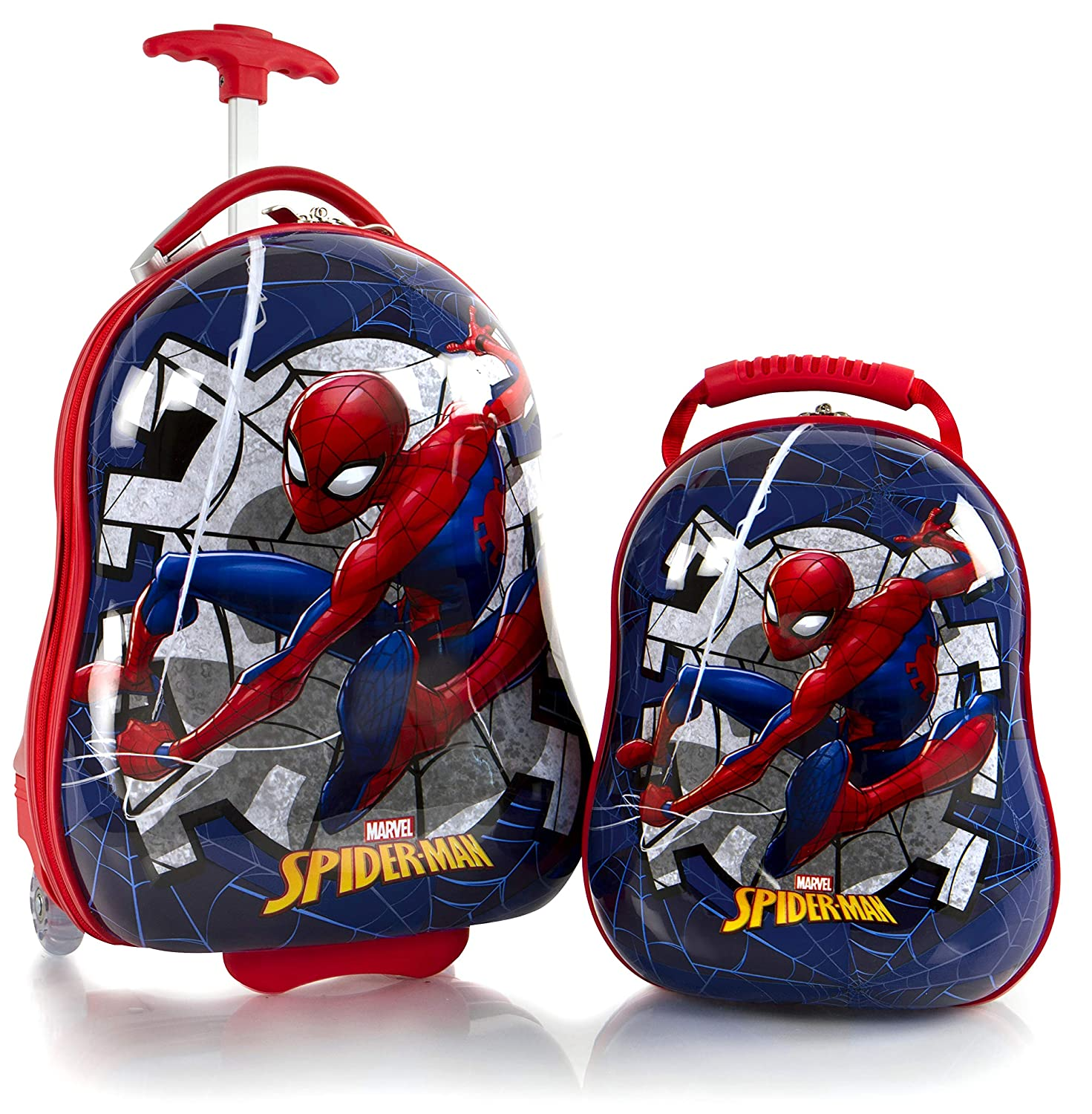 Heys America Spiderman Boy's 2 Pc Luggage Set 18 Carry On Luggage 12 Backpack