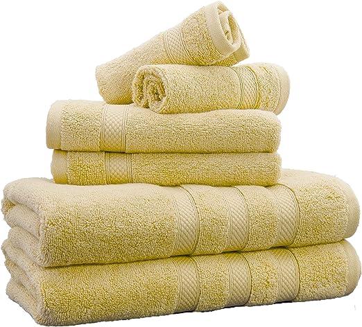 Towelogy® Zero Twist Cotton Bath Towels 600gsm Combed Grey Bale Set 2//4//6 Pack