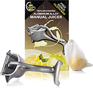 Weekko Manual Fruit Juicer with washable Filter Cloth Bag | lemon juicer | Perfect for making organic lemon juice, pomegranate juice, lime juice, orange juice| lemon squeezer | citrus squeezer