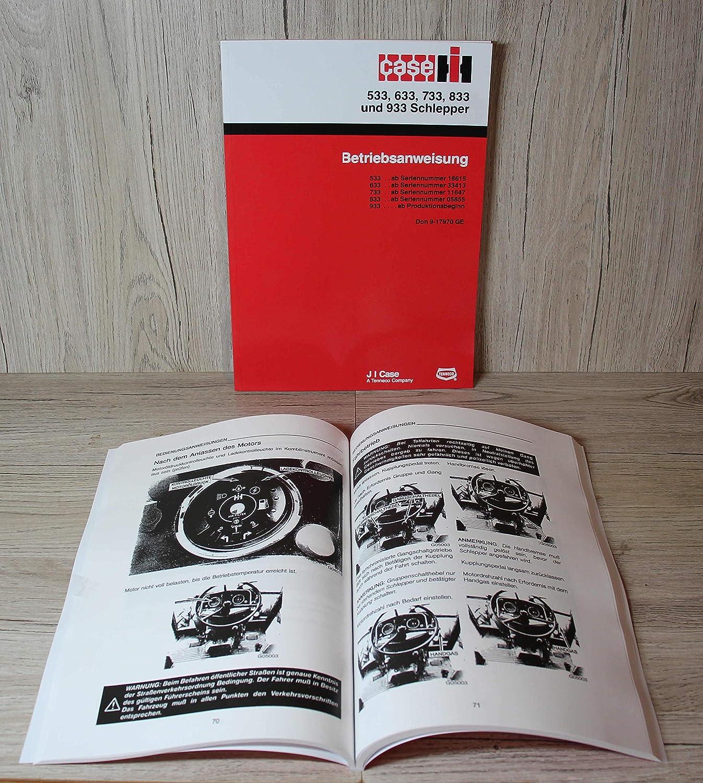 Ihc Case User Manual Tractor 533 633 733 833 933 Auto