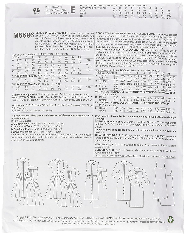 McCalls M6696 - Patrones de costura para confeccionar vestidos de ...