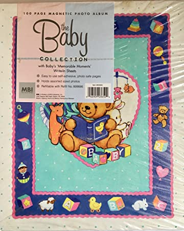 Amazoncom The Baby Collection 100 Magnetic Page Photo Album