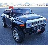 LICENCED HUMMER with LARGE seat and DUBLE POWERFULL Motors REAL PAINT , Battery Operated Ride On Car Toy With OPEN DOORS Remote Control MP3 ,Music