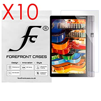 Forefront Cases® 10 x Protector De Pantalla para Lenovo Yoga Tab 3 Plus (Publicado en Noviembre 2016) Protector de Pantalla Defensa Membrana [Paquete ...
