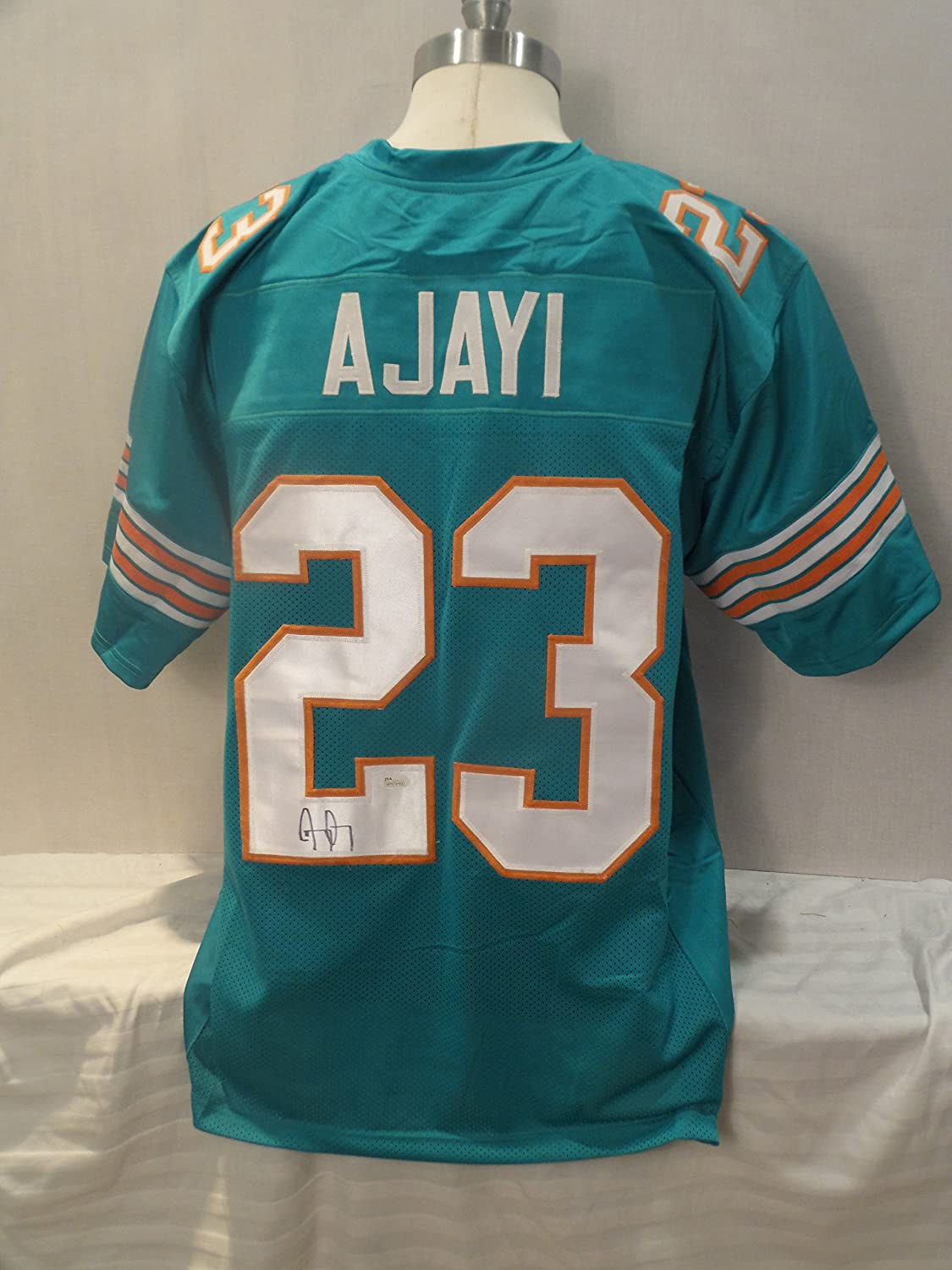 848ff594 Jay Ajayi Signed Miami Dolphins Teal Autographed Jersey JSA Novelty ...