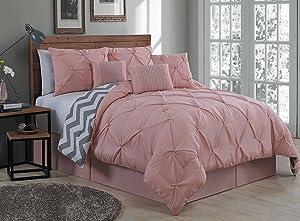 Geneva Home Fashion Avondale Manor Bedding Set, Queen, Blush