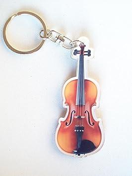llavero de acrílico Forma violín: Amazon.es: Instrumentos ...