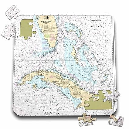 Cuba Florida Map.Amazon Com Florene Nautical Map Decor Print Of Cuba And