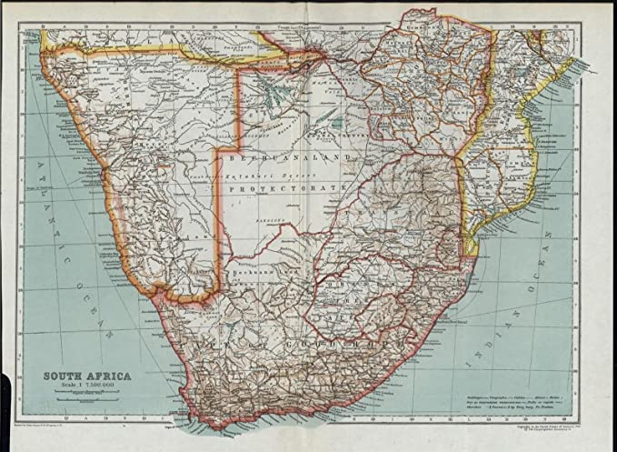 South Africa Cape Good Hope Transvaal Orange Free State 1911 antique ...