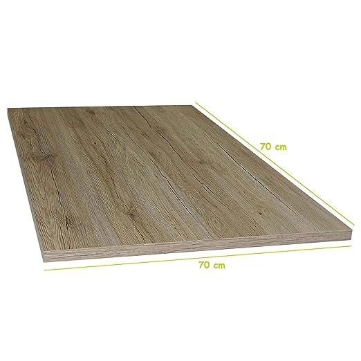Mesa San Remo Roble Estable Mesa de Madera Placa de 2,2 cm de ...