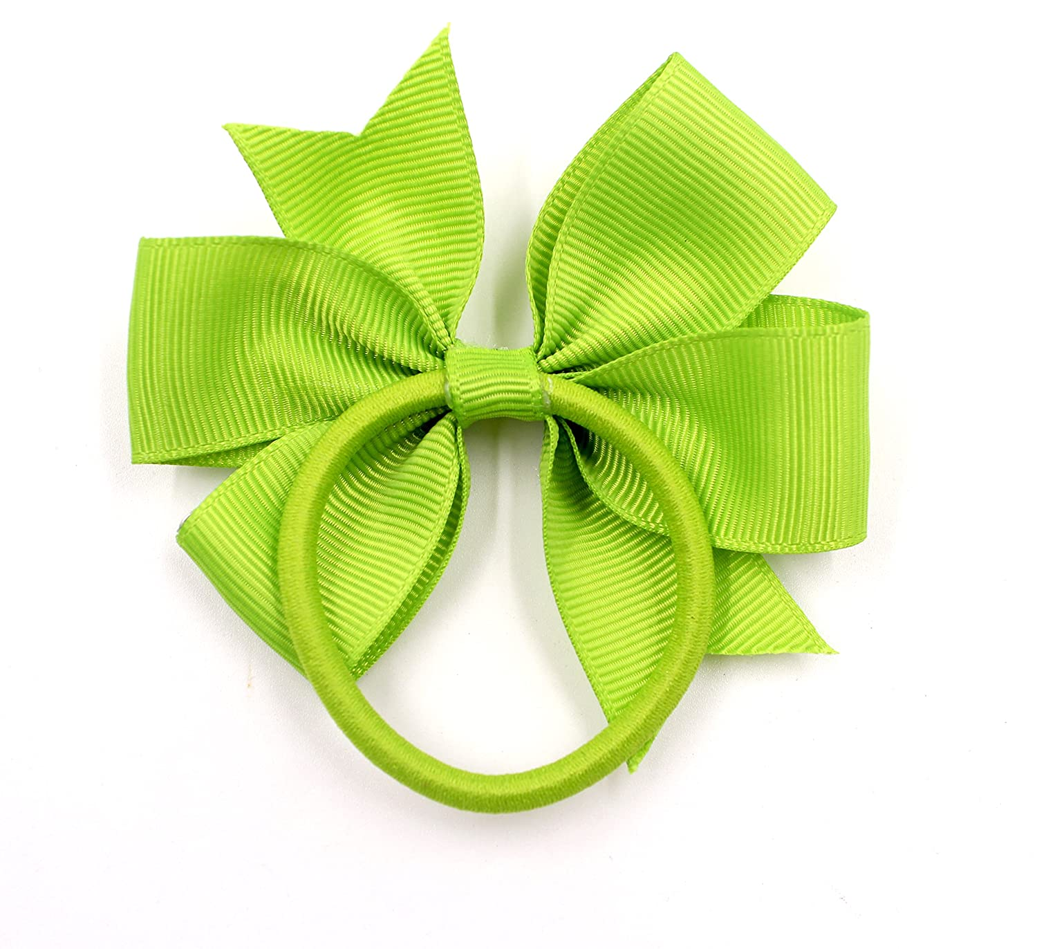40Pcs 3.5 Boutique Grosgrain Ribbon Hair Bows Elastic Hair Ties Ponytail Holder Hair Bands in Pairs for Girls Kids Children Teens