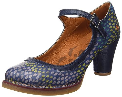 St.Tropez, Zapatos de Tacón con Punta Cerrada para Mujer, Azul (Fantasy Drops), 39 EU Art
