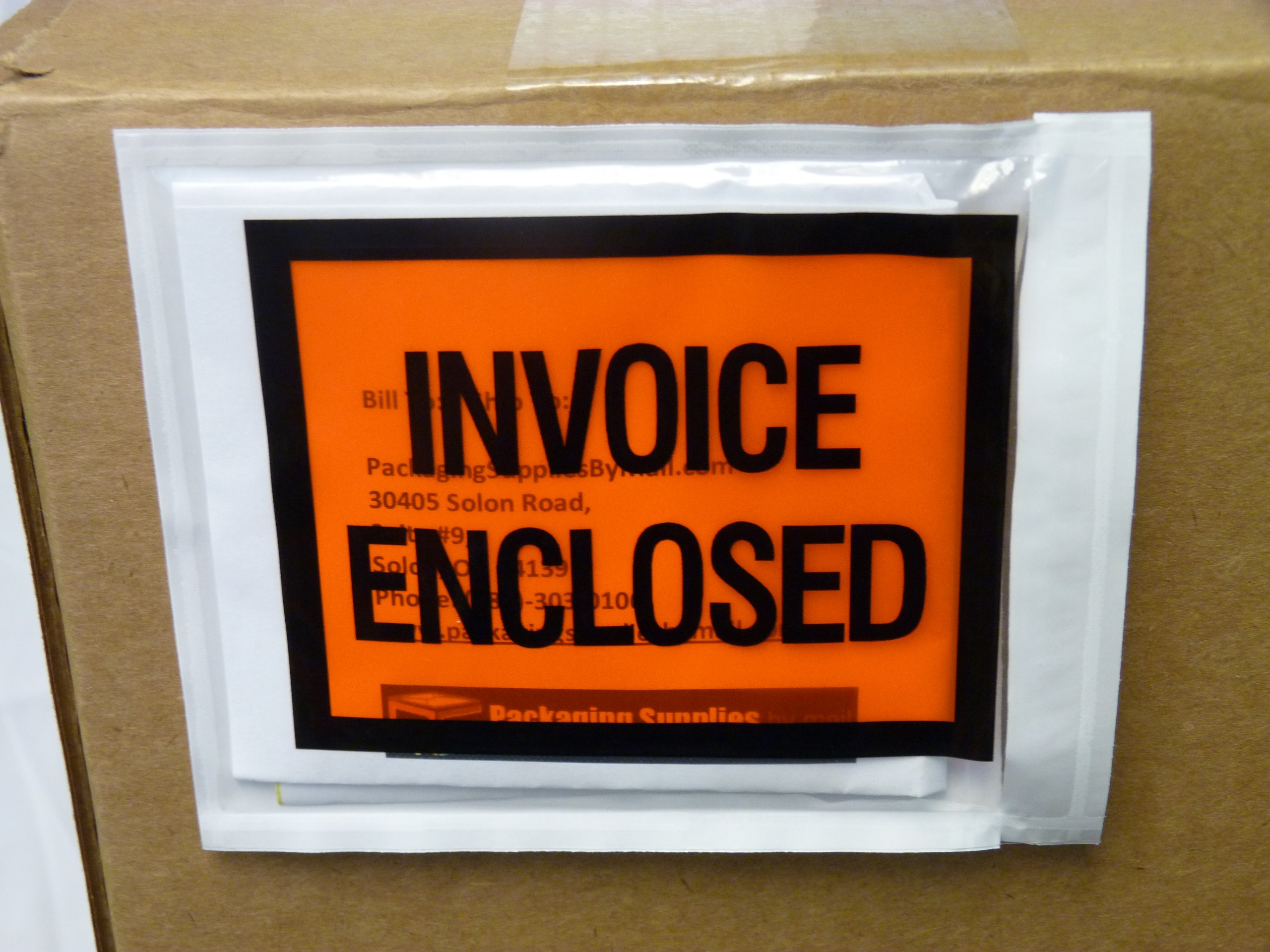 Invoice Enclosed Packing List Envelopes Full Face Back Load 2.0 Mil Thick - 4.5'' X 5.5'' 1000/Case