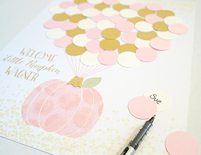 Little Pumpkin Baby Girl Shower Decor   Perfect Guest Book Alternative For  Fall Baby Shower Decor