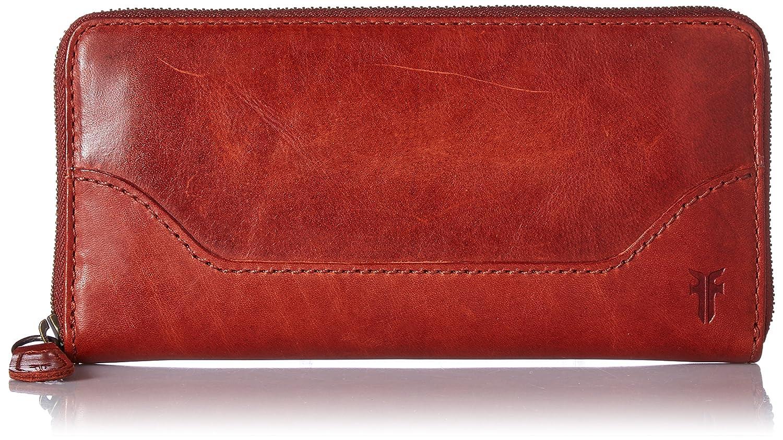 Red Clay FRYE Melissa Zip Around Leather Wallet