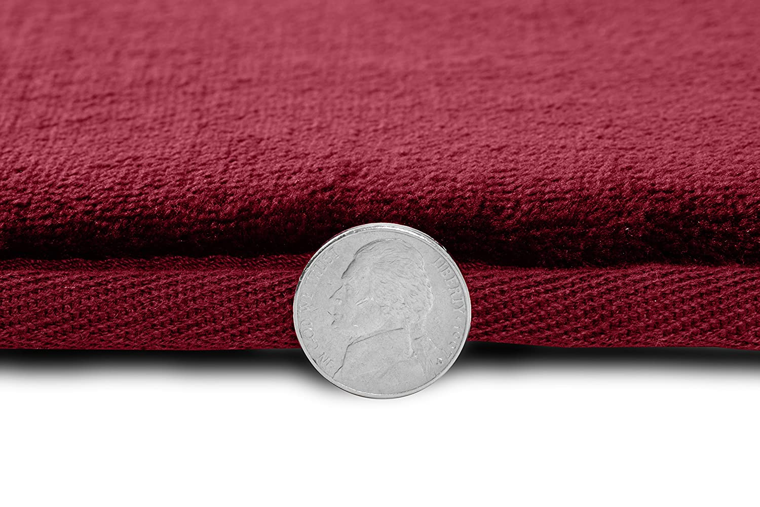 Clara Clark Non Slip Memory Foam Tub-Shower Bath Rug Set 1 Large Size 20 X 32 in Includes 1 Small Size 17 x 24 in - Coral Pink