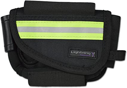 TOP CLIP and Star of Life EMS BLUE NEOPRENE POUCH with BELT LOOP