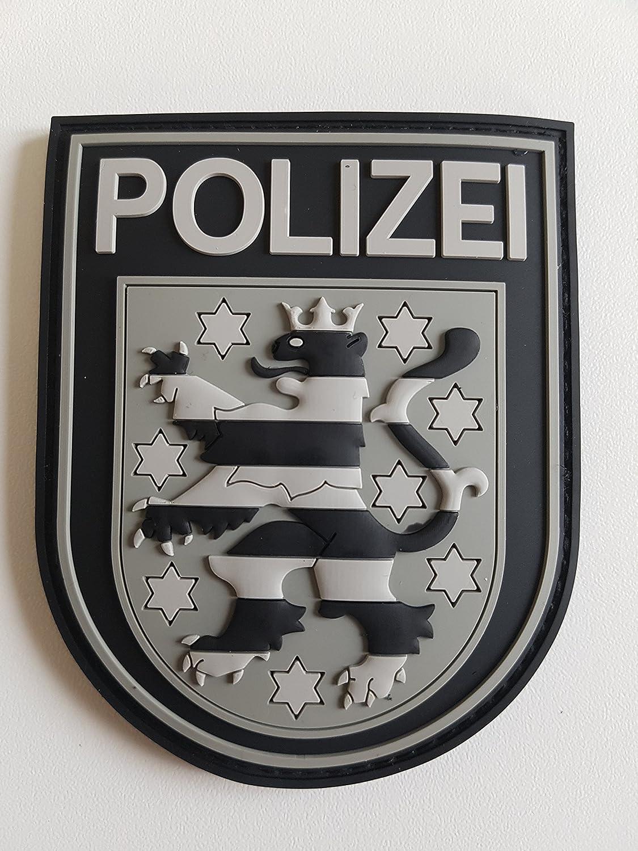 ATG /Ärmelabzeichen Polizei Th/üringen 3 D Rubber Patch BlackOps