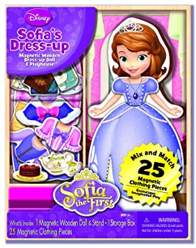 Unbekannt Bendon Disney Sofia The First Wooden Magnetic Play Set, de 25 Piece By Bendon