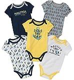 Nautica Baby Boys 5 Packs Bodysuits