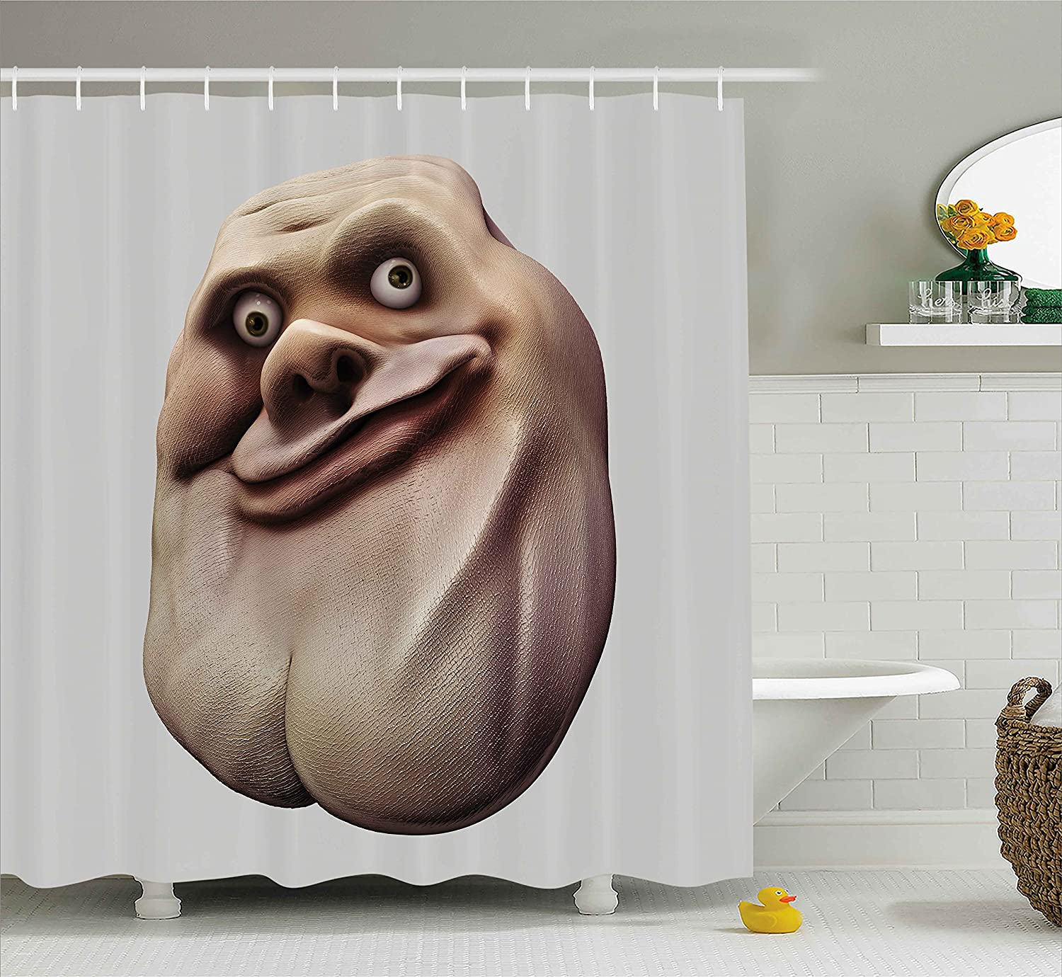 Amazon Humor Decor Shower Curtain by Ambesonne Awkward Meme