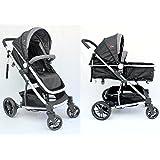 mamakiddies 2in1 Aluminium Baby Pram Baby Stroller Jogger Push Chair Bassinet