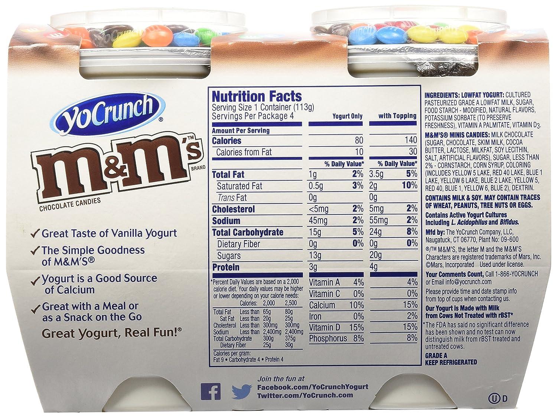 YoCrunch, Vanilla M&M Yogurt, 4 oz, 4-pack: Amazon.com: Grocery & Gourmet Food